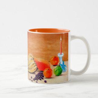 Fruits in Season Two-Tone Coffee Mug