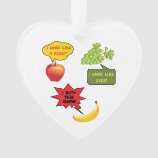 Fruits joke, banana rage ornament