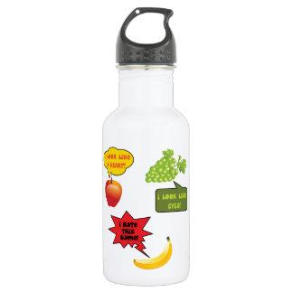 Fruits joke, banana rage 18oz water bottle