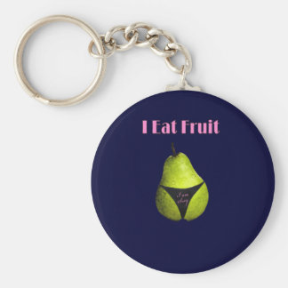 Fruits nutritional values basic round button keychain