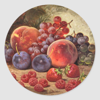 Fruits of Summer Classic Round Sticker