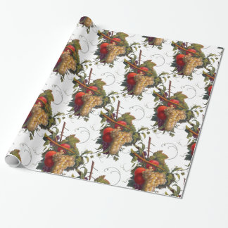 Fruits of the Season Botanical Illustration Wrapping Paper