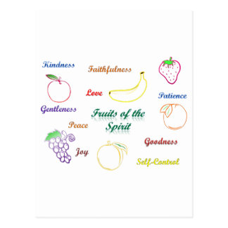 Fruits of the Spirit Postcard