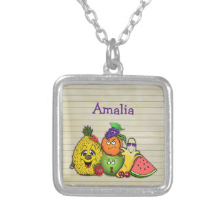 fruits only - accessories for all silver plated necklace