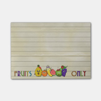 fruits only Post-It-Notes pad Post-it® Notes