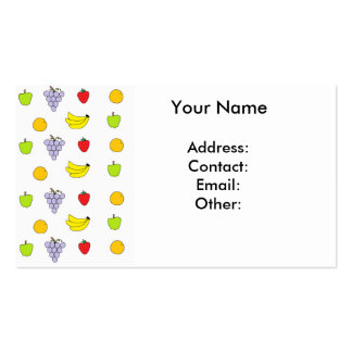 Fruits Pattern Business Card