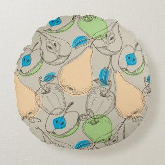 Fruits pattern round pillow