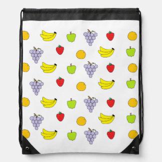 Fruits Pattern Cinch Bag