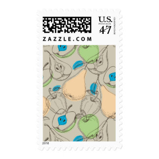 Fruits pattern postage