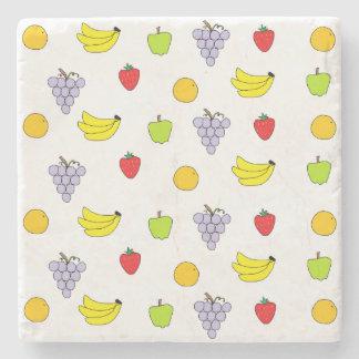 Fruits Pattern Stone Coaster