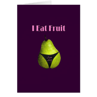 Fruits potassium card