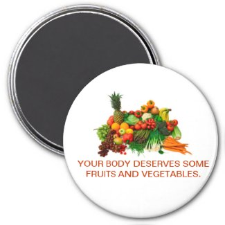 Fruits & Vegetable Customized Magnet. Eat Healthy. Magnet