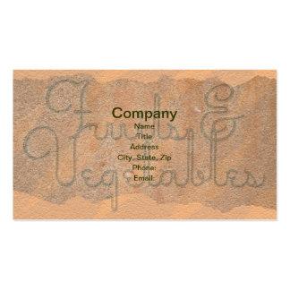 Fruits & Vegetables Business Cards