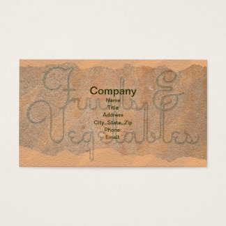 Fruits & Vegetables Business Cards