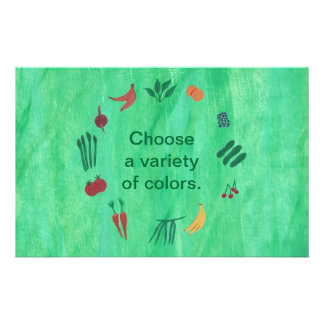 Fruits Vegetables, Choose a Variety of Colors Stationery
