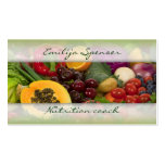 Fruits & Vegetables Healthy Life/Nutritionist Card Double-Sided Standard Business Cards (Pack Of 100)