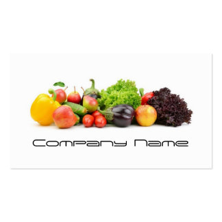 Fruits Vegetables / Healthy Life / Vegetarian Card Double-Sided Standard Business Cards (Pack Of 100)