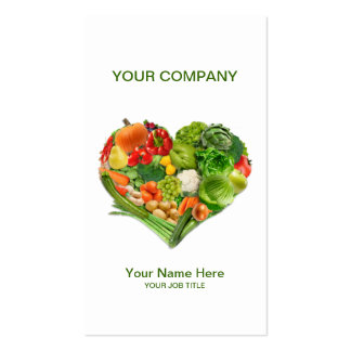 Fruits Vegetables Heart Business Business Card