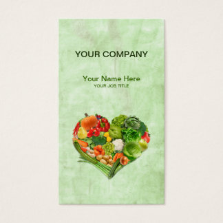 Fruits Vegetables Heart - painting background Business Card