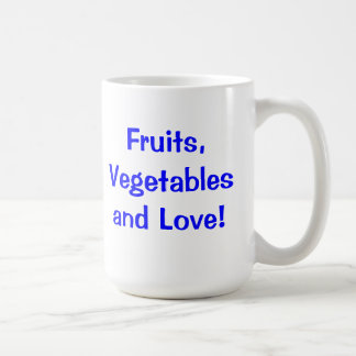Fruits, Vegetables & Love! Coffee Mug