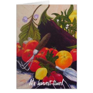 Fruits & Vegetables Medley Card