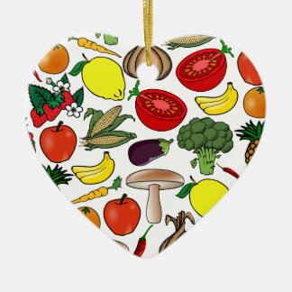 Fruits & Vegetables ornament, customize Ceramic Ornament