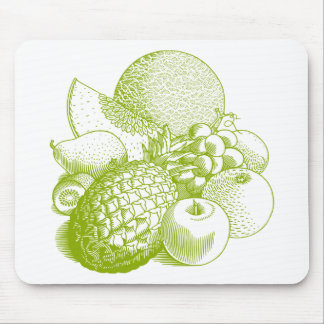Fruits vintage food healthy retro mouse pad