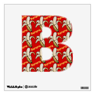 Fruity Alphabet (B is for Banana) Wall Decals
