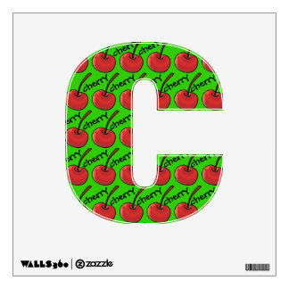 Fruity Alphabet (C is for Cherry) Room Graphics