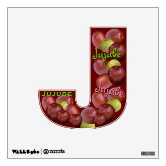Fruity Alphabet (J is for Jujube) Wall Decal