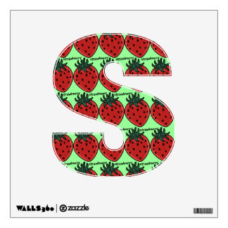 Fruity Alphabet (S is for Strawberry) Room Decal