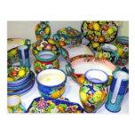 Fruity Ceramics from Sorrento(Italy) Postcard