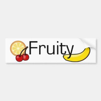 Fruity Gay Pride Car Bumper Sticker