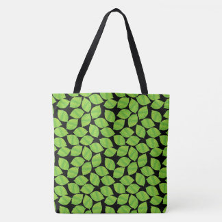 Fruity Green Limes, Black Background to Customize Tote Bag