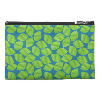 Fruity Green Limes on Blue Background to Customize Travel Accessory Bag