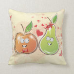 fruity love apple and pear valentine pillows