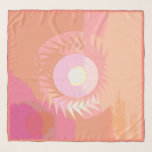 Fruity Mango Colored Summer Sun Abstract Scarf