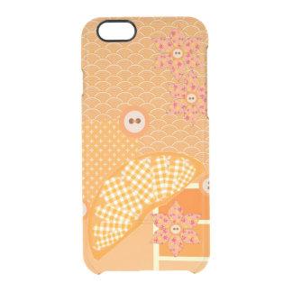 Fruity Orange Patchwork Decorative Scrapbook Clear iPhone 6/6S Case
