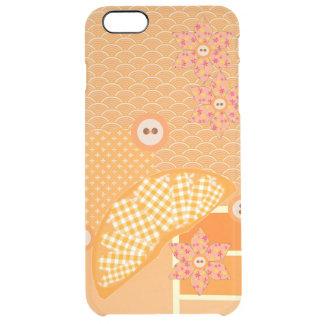 Fruity Orange Patchwork Decorative Scrapbook Clear iPhone 6 Plus Case