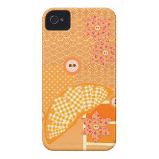 Fruity Orange Patchwork Decorative Scrapbook iPhone 4 Cases