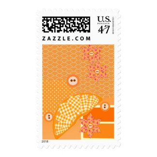 Fruity Orange Patchwork Decorative Scrapbook Postage