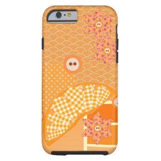 Fruity Orange Patchwork Decorative Scrapbook Tough iPhone 6 Case