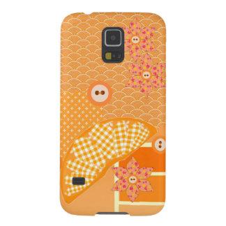 Fruity Orange Scrapbook Decorative Patchwork Case For Galaxy S5