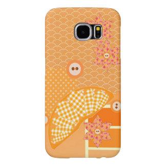 Fruity Orange Scrapbook Decorative Patchwork Samsung Galaxy S6 Cases