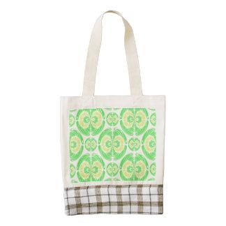 Fruity pattern zazzle HEART tote bag