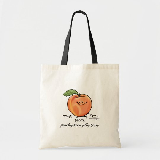 Fruity Peach - Cartoon Tote Bag