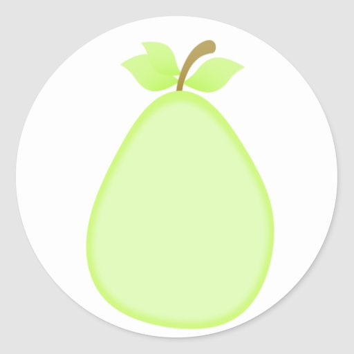 Fruity pear stickers