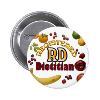 FRUITY RD - REGISTERED DIETITIAN 2 INCH ROUND BUTTON