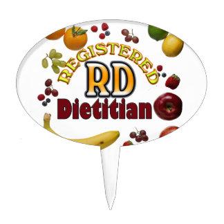 FRUITY RD REGISTERED DIETITIAN CAKE TOPPER