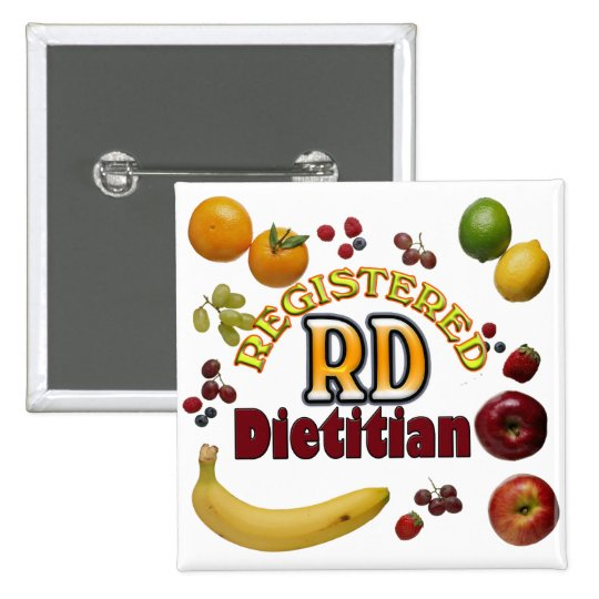 FRUITY RD - REGISTERED DIETITIAN PINBACK BUTTON
